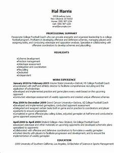 college football coach resume template best design With football cv templates free