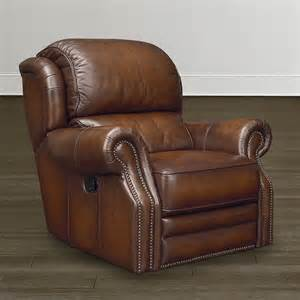 Leather Rocker Recliner with Nailhead Trim