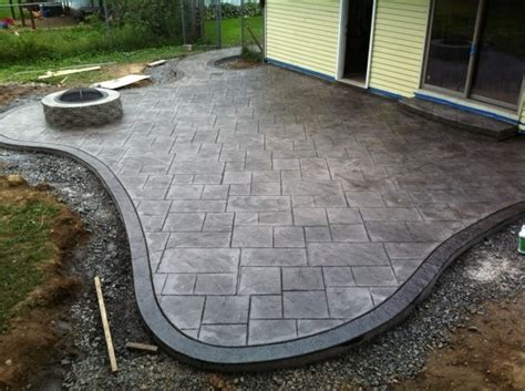 sted concrete patio with pit pit ideas