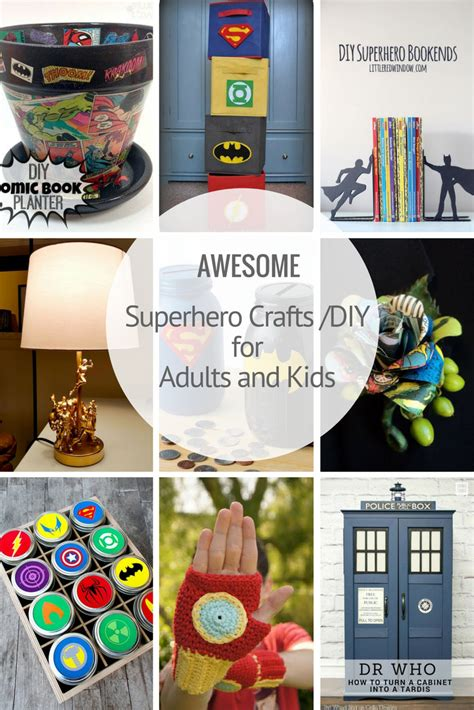 The Best Superhero Crafts And Diy's For All  Pillar Box Blue