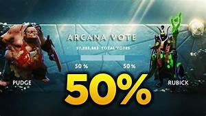 TI7 Arcana VOTE Revealed PUDGE Vs RUBICK 50 50