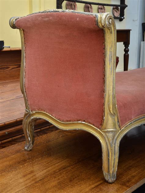 chaises louis xv gilt louis xv style chaise longue at 1stdibs