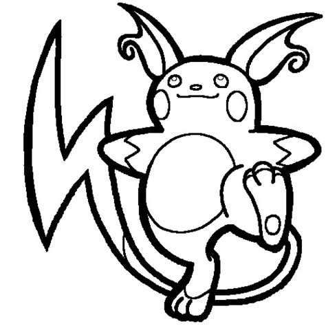 Kleurplaat Raichu by Raichu Coloring Pages Az Coloring Pages