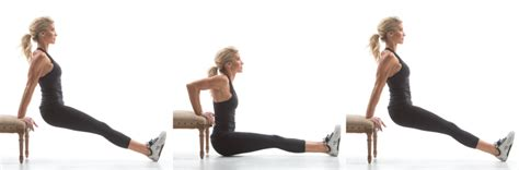Bench Dips Workout by Exercise Movement Glossary Bench Dip Heidi Powell