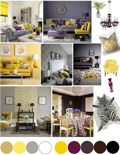 Yellow Grey And Purple Living Room by Color Palette Yellow And Plum In 2019 Home Decor
