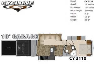 cyclone toy hauler floor plans images