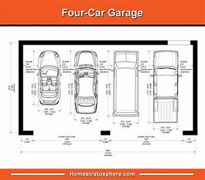 Standard Garage Dimensions For 1  2  3 And 4 Car Garages  Diagrams