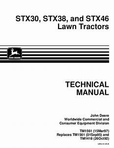 John Deere Stx46 Lawn Garden Tractor Service Repair Manual