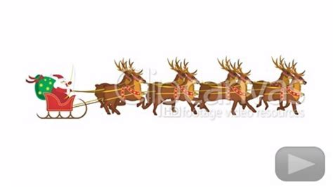 santa reindeer christmas stock footage hd video 216384