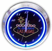 Las Vegas Sign Neon Clock NC 20 32