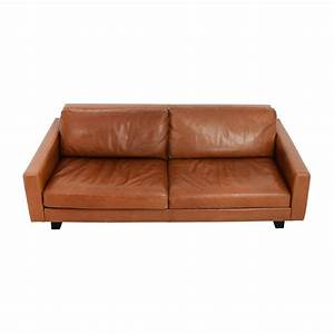 used leather sofa used rh leather sofa thesofa With used leather sectional sleeper sofa