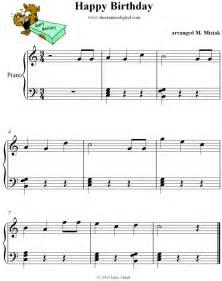 Happy Birthday Song Piano Notes