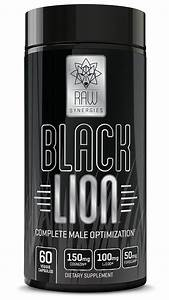 Raw Synergies Black Lion  U2013 Thermogenic Testosterone Booster And Fat Burner For Men  Natural