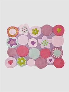 tapis pois multicolores fille avec fleurettes violet With tapis chambre bébé avec soutien gorge fleur