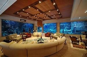 Deco Mural Salon : l aquarium mural en 41 images inspirantes ~ Teatrodelosmanantiales.com Idées de Décoration