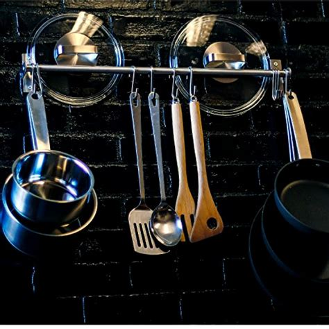 Kitchen Pot Hanging Rail by Stainless Steel Gourmet Kitchen 23 25 Inch Wall Rail Pot