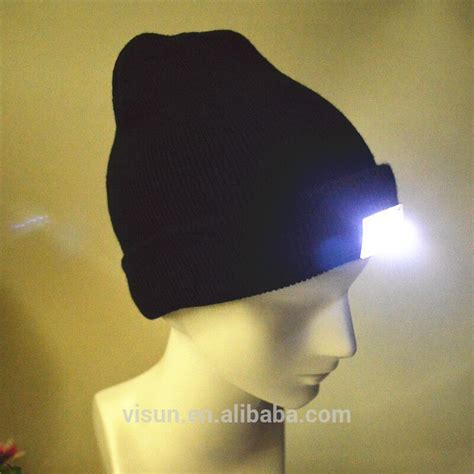 knit hat with led lights unisex winter knitted new led light beanie hat buy 4led