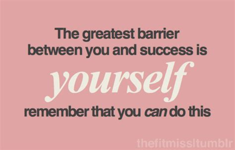 greatest barrier    success