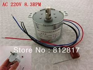 8 3rpm  Min 4 Wire Cable Centrifugal Drive Shaft Fan Synchronous Motor Ac 220v