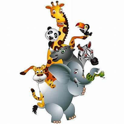 Safari Cartoon Animal Animals Clipart Imagens Desenhos