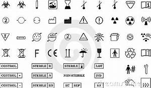 Complete Medical Packaging Symbols Royalty Free Stock Images