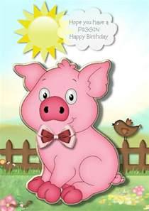 Pig Saying Happy Birthday