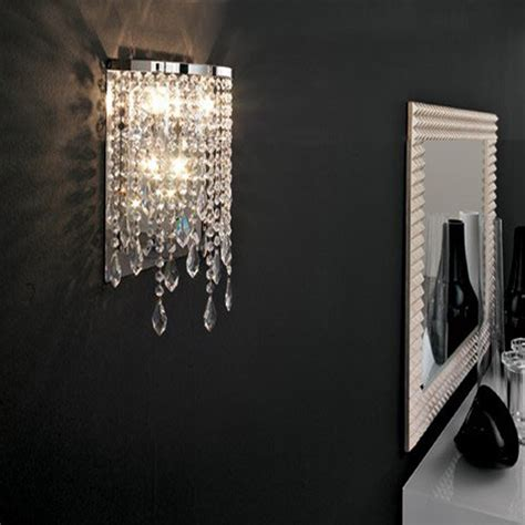 modern crystal wall light mirror lights contemporary wall