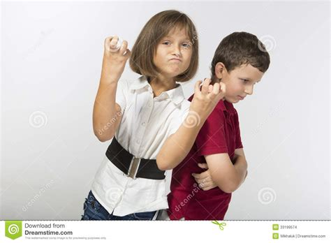 boy   girl  angry    stock images