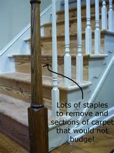 Removing Carpet From Stairs And Painting by My Foyer Staircase Makeover Reveal In My Own Style