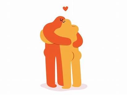 Hug Character Dribbble Farnsworth Warm Diamond Keyboard