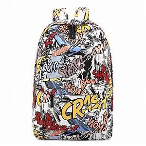 מוצר - 2017 Street Graffiti Backpack For Women Girls ...