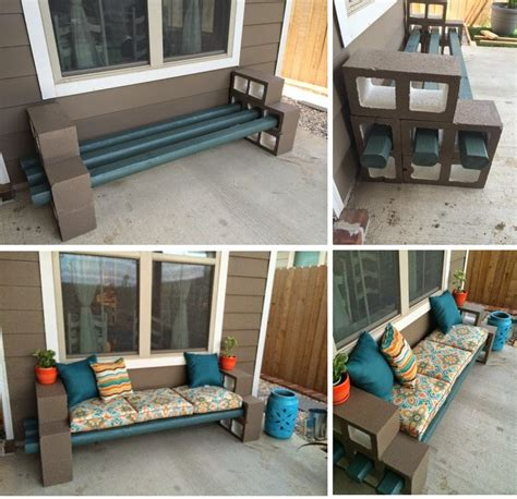 how to make a cinder block bench diy cinder block bench home design garden