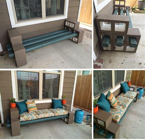 Diy Cinder Block Bench  Home Design, Garden