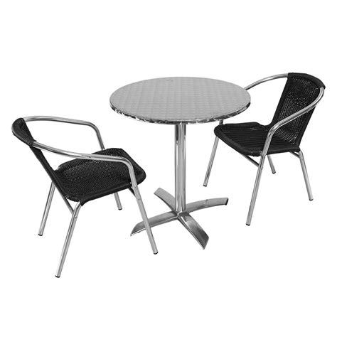 table ronde et chaises mobilier exterieur restaurant pas cher