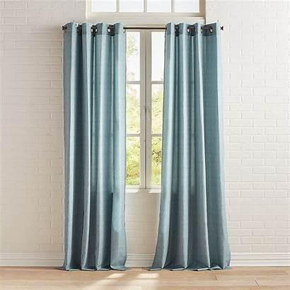 Teal Grommet Curtain Herringbone Curtains Pattern Elegant