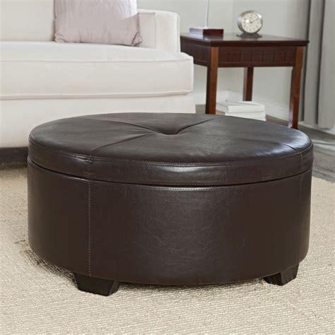 small round leather ottoman small round ottoman homesfeed