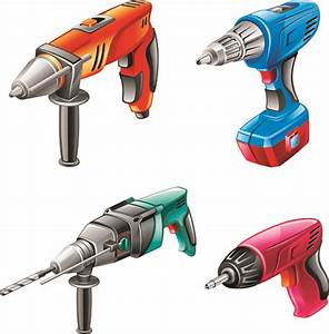 Different Power Tools Vector Graphics 01 Free Download
