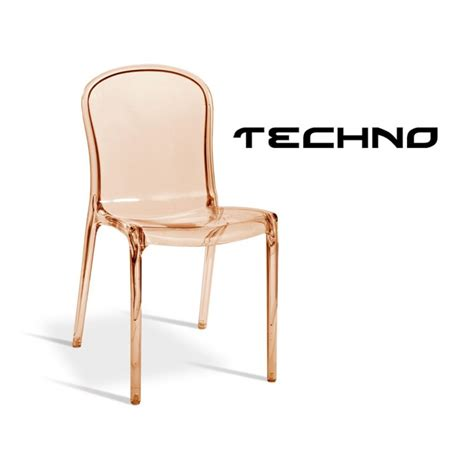 chaises polycarbonate chaise transparente plastique techno structure polycarbonate