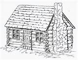 Cabin Log Coloring Cabins Drawing Sheets Pages Adult Draw Printable Patterns Colonial Drawings Sketches Houses Woods Wood Burning Colouring Pattern sketch template