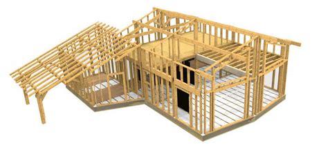 plan de maison en bois gratuit plan gratuit maison ossature bois construction