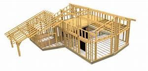 plan gratuit maison ossature bois construction blog With plan maison bois gratuit
