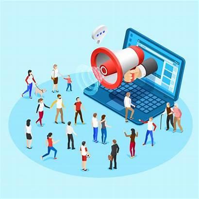 Promotion Marketing Ads Vector Social Illustration Web