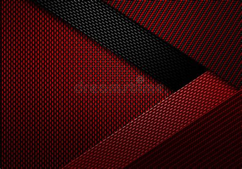 abstract red carbon fiber textured material design stock