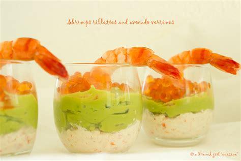 cuisine de a à z verrines verrine aux rillettes de crevettes et avocat