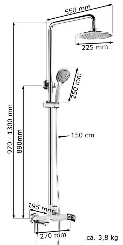 Badarmaturen Fuer Waschtisch Dusche Und Badewanne by Duschset Duschsystem Komplett Dusche Badewanne Armatur