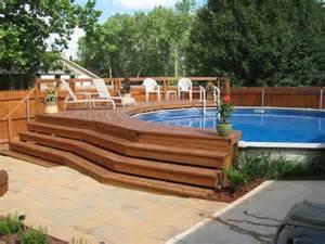 Above Ground Pool Decks Ideas by Above Ground Pools Decks Idea Oasis Patios Deck