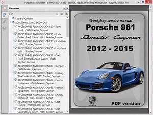 Porsche 981 Boxster - Cayman  2012-15