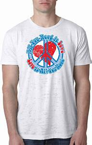 Unisex Shirt Size Chart Mens Peace Shirt All You Need Is Love Burnout Tee T Shirt