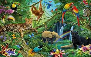 Animals of the Jungle Full HD Wallpaper and Background ...