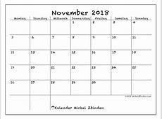 Kalender November 2018 MS
